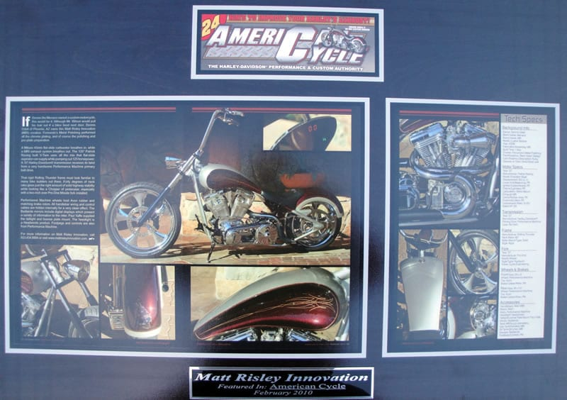 Menace - Dennis Odell's MRI Bobber - Featured in AMERICAN CYCLE Feb 2010