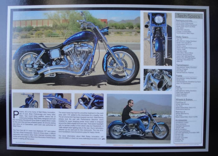 Blue on Blue - A Custom Dyna From Matt Risley - AMERICAN CYCLE Aug 2009