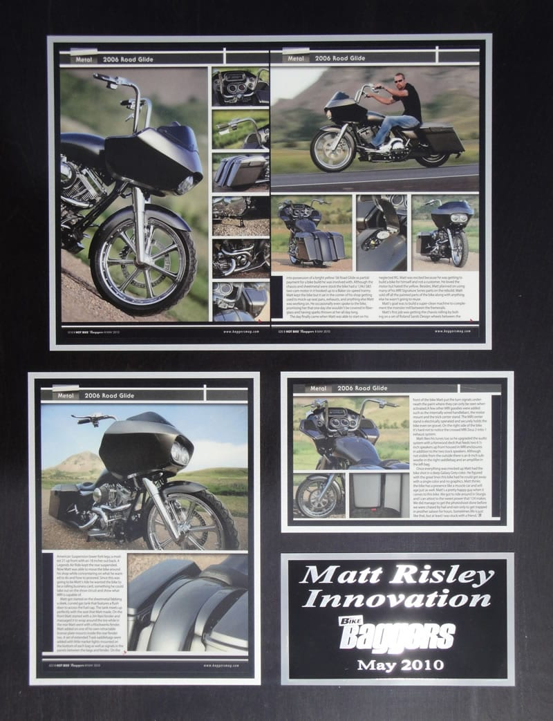 Rolling Business Card - Matt Risley Style - HOT BIKE BAGGER May 2010